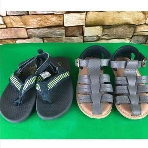 2 Pair Toddler Sandals Old Navy Oshkosh SZ 9